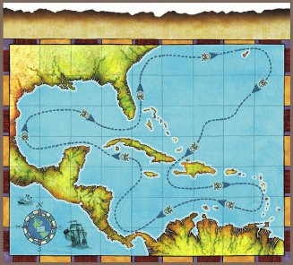 Pirate Map, Board Game, Forrest-Pruzan Creative