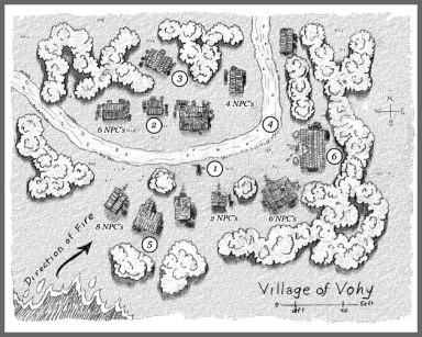 Village of Vohy Map, Frog God Games