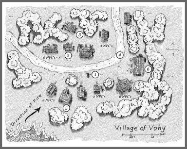 Village of Vohy Map, Frog God Games
